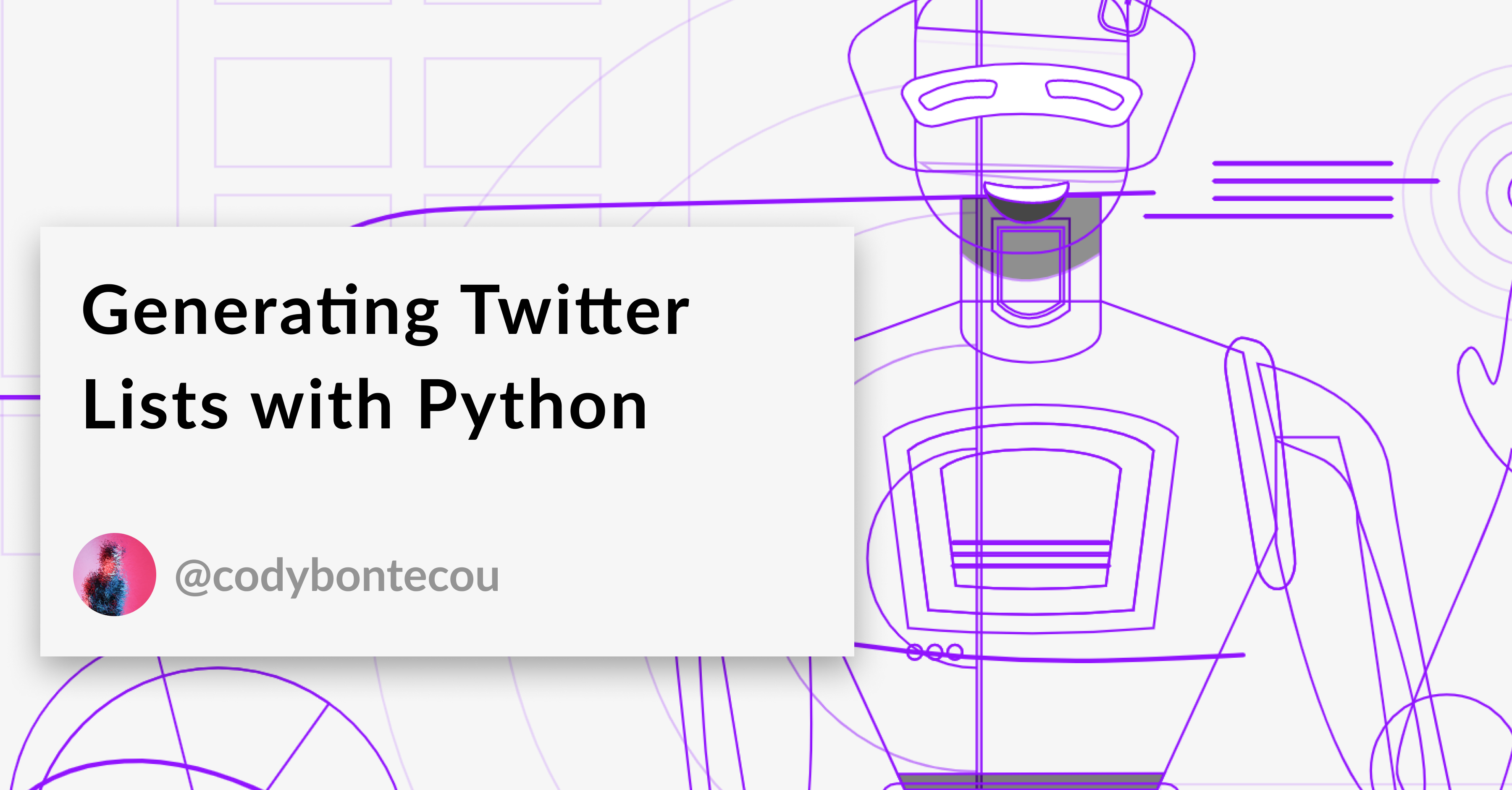 Generate Twitter Lists with Python